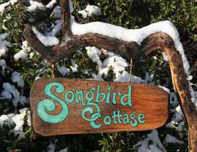 Songbird Cottage sign