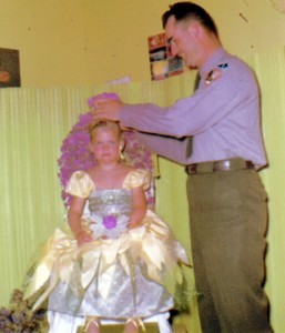 Robin Kobaly as Wildflower Queen at six years old