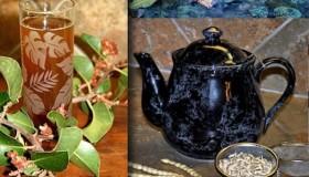 Tea pot & Glass wild lemonade